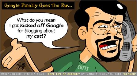 Avstängd för bloggande om katt