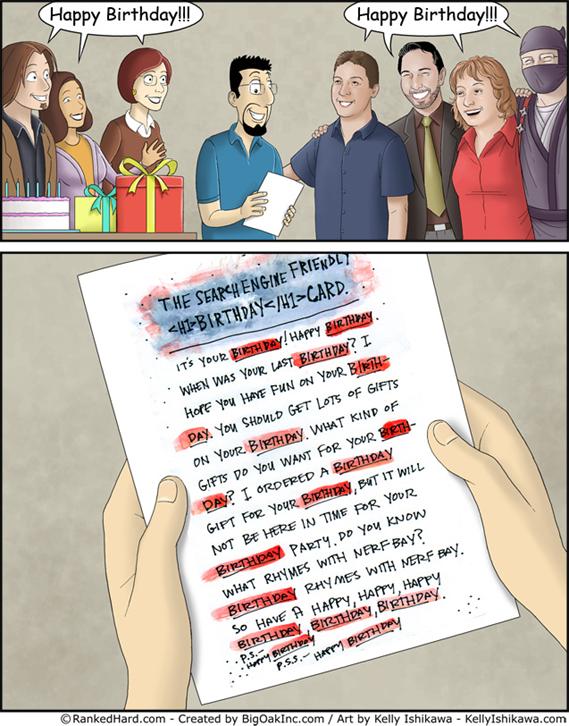 seo birthday card