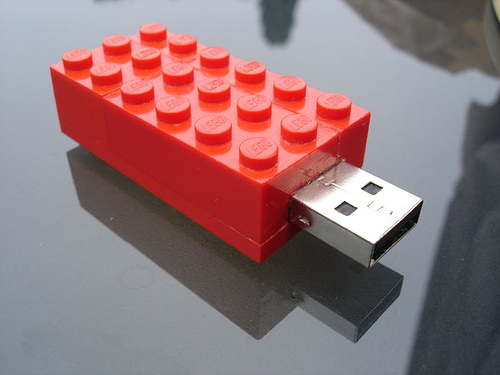 usb-minne legobit