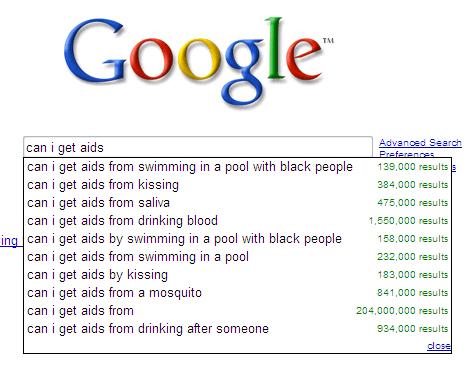 google suggestion aids